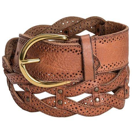 Danbury Braided Leather Belt (For Women))