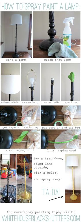 going to tackle this today on an old lamp! [How To Spray Paint a Lamp]
