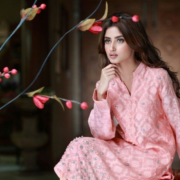 Channel @sajalaly and Make your Statement in Agha Noor pastel hues. #aghanoor