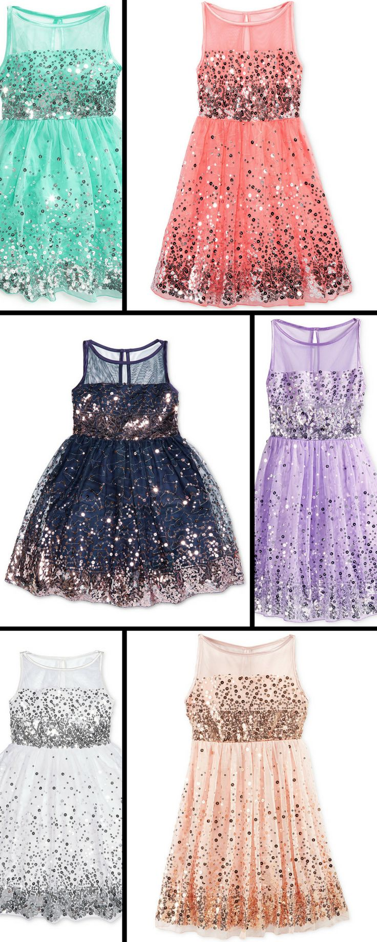 Black Friday Special!  Girls Sequin Crystal Doll Dress #macy's#dress#girls#holiday#special#ad