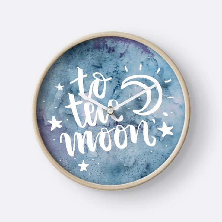 To the Moon watercolor circle von lizzie-burgundy
