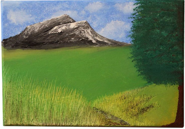 Landscape Oil Painting Mountains Canvas 30x20cm Hand Painted by Zak Kirakosian in Art, Artists (Self-Representing), Paintings | eBay