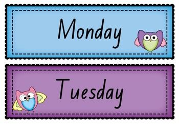 A cute set Days of the Week and Months of the Year poster/display in Foundation font   Print off and laminate. Personally, I enlarge when I print.   Prefer a different font? Just ask!