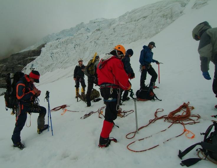 Prácticas en el glaciar del Cóncavo en la Sierra Nevada de El Cocuy.