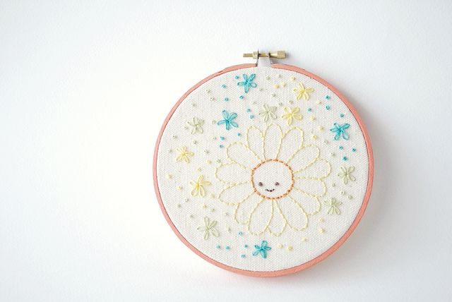 Sweet Little Daisy free embroidery pattern - Wild Olive