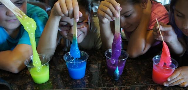 Make your own slime for Ghostbusters slime lab