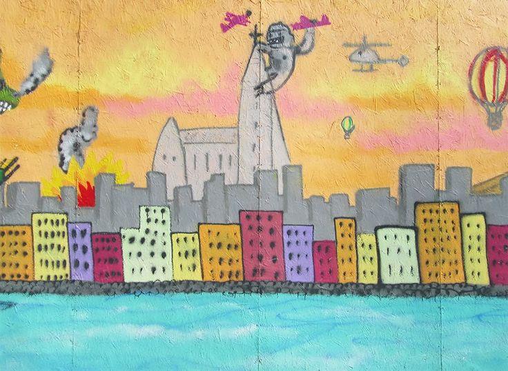 Reykjavik King Kong mural