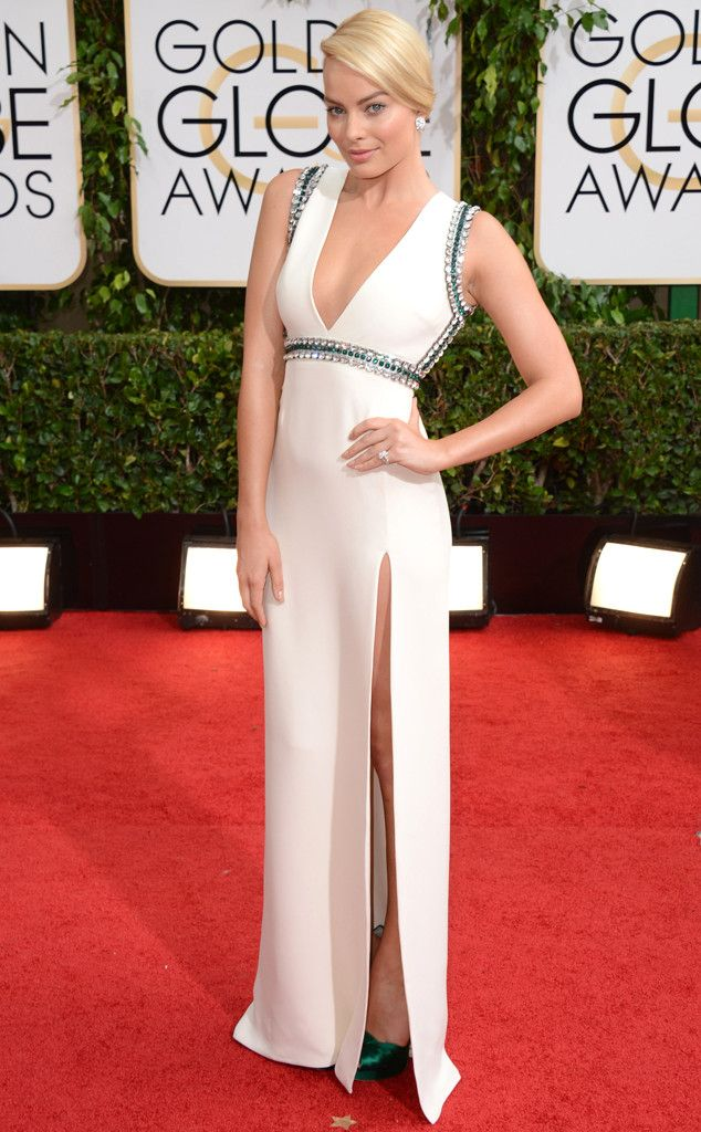 Margot Robbie in Gucci. Best Dressed at the 2014 Golden Globe Awards