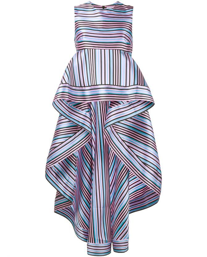 NATASHA ZINKO Striped Peplum Top                                                                                                                                                                                 More