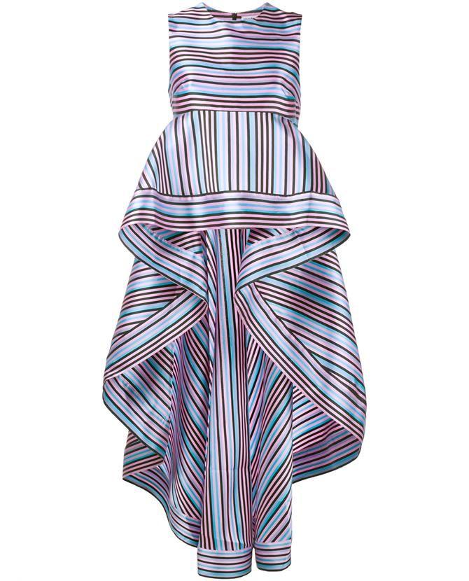 NATASHA ZINKO Striped Peplum Top