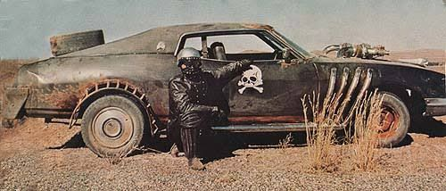 wastelandwarrior4: Ford Landau and driver from Mad Max 2