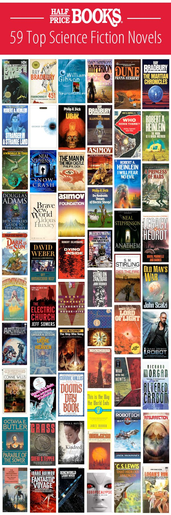 Best Science Fiction Novels, compiled by Half Price Books employees! HPB.com