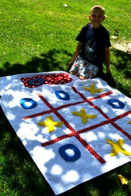 Beach Blanket Tic Tac Toe Tutorial -- Beach Bash Day 5 ~ * THE COUNTRY CHIC COTTAGE (DIY, Home Decor, Crafts, Farmhouse)