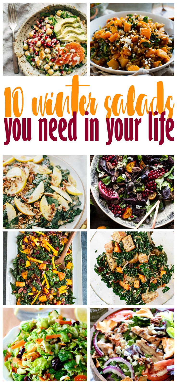 10 Winter Salads You Need In Your Life- seasonal salads to help lighten the load during the holidays!