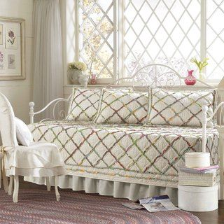 Laura Ashley Ruffled Garden 5-piece Quilted Daybed Cover Set   Overstock.com Shopping - The Best Deals on Daybed Covers