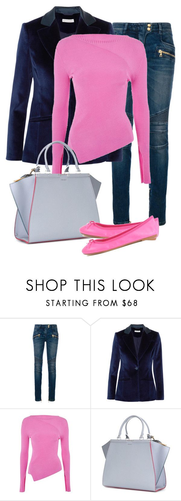 """Untitled #715"" by indirareeves on Polyvore featuring Balmain, Altuzarra, Topshop, Fendi and ANNA BAIGUERA"