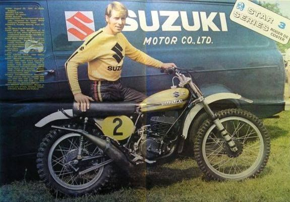 1973- Roger deCoster, his Suzuki and his Suzuki Van ...