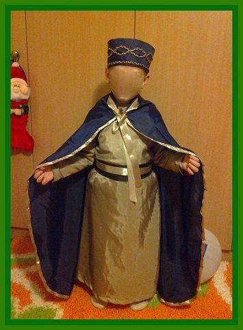 Χειροποίητη στολή μάγου Χριστουγέννων με καπέλο.