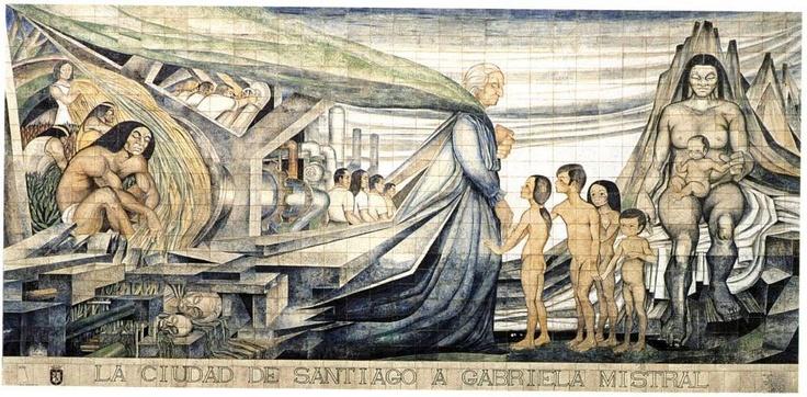Homenaje a Gabriela Mistral en Santiago. De Fernando Daza