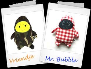 Hip & Blizz 'Mr. Bubble' hippe knuffels