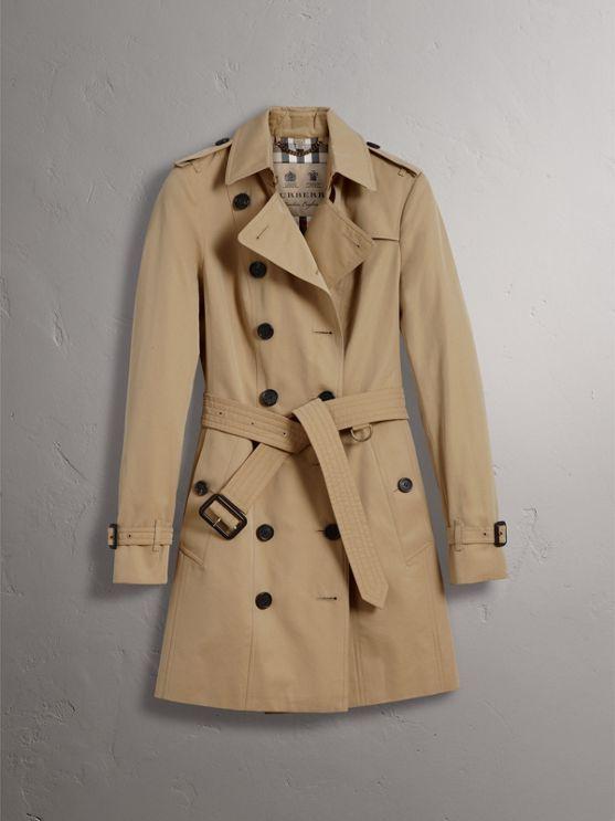 The Sandringham – Mid-Length Heritage Trench Coat in Honey - Women   Burberry - cell image 3