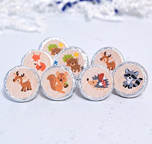 Forest Friends Party Favors, Set of 324 Woodland Party Supplies, Woodland Birthday, Round Candy Label - https://www.partysuppliesanddecorations.com/forest-friends-party-favors-set-of-324-woodland-party-supplies-woodland-birthday-round-candy-label.html