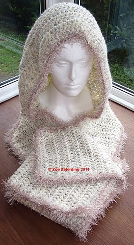 Mejores 111 imágenes de Crochet Scarf W Hood / Pockets en Pinterest ...