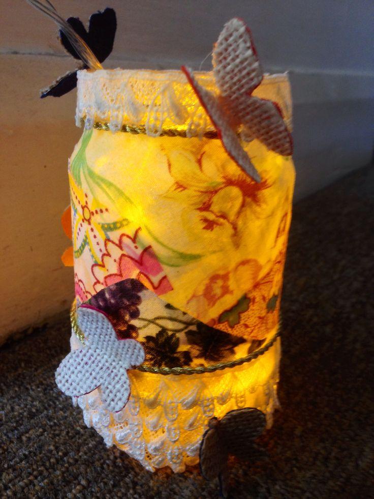 Decoupage on jars