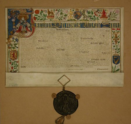 Patent  National Trust Inventory Number 129691.3 CategoryManuscripts and documents Date1621