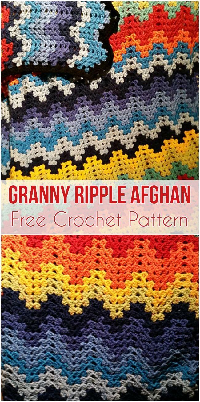Granny Ripple Afghan Free Pattern Crochet Crochet Afghan