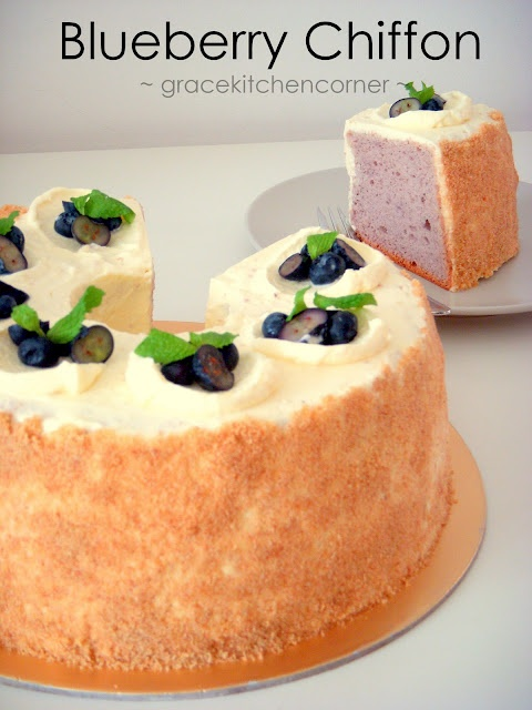 Blueberry Chiffon -recipe is in metric but I will figure out to convert it if I have to.