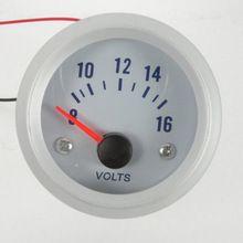 52mm Smoke Pointer Car Motor Volt Voltage Gauge Meter Auto Gauge Car Styling Car Instruments Free shipping(China (Mainland))