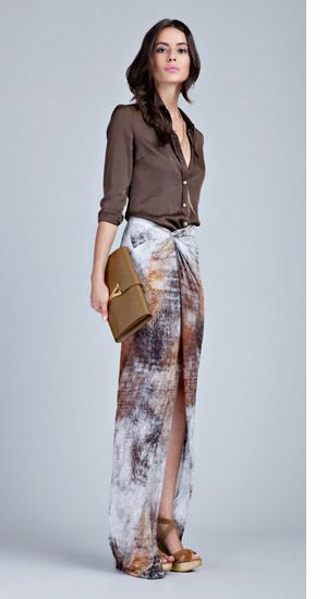 wear your soft shirt with your pareo wrapped as a skirt-this is a dress by helmut lang