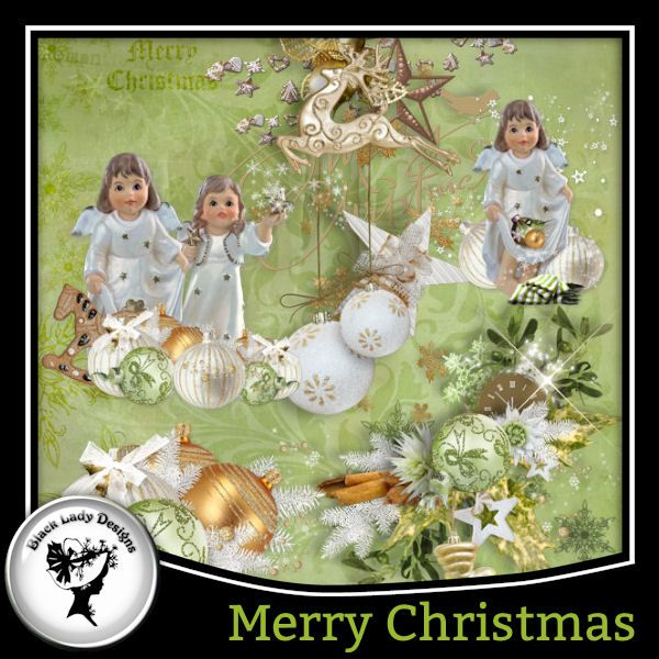 Merry Christmas Clusters by Black Lady Designs