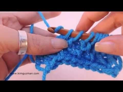 Tunisian Crochet: Honeycomb Stitch Pattern - YouTube