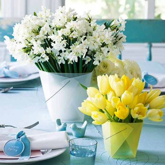 Super Easy Easter Flowers: Floral Centerpieces, Ideas, Easter Centerpieces, Tables Sets, Mothers Day, Decoration, Spring Centerpieces, Flowers, Crafts Stores