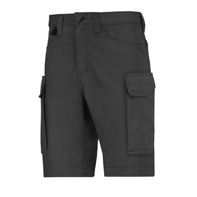 These Snickers 6100 Service Shorts are perfect for the active worker in the heat of the summer. They're made from a comfortable polyester and cotton fabric, tare lightweight and durable, with a special dirt-repellent and stretch easy care finish. They feature spacious front and rear pockets, with flap closed side pockets on each leg for additional storage.