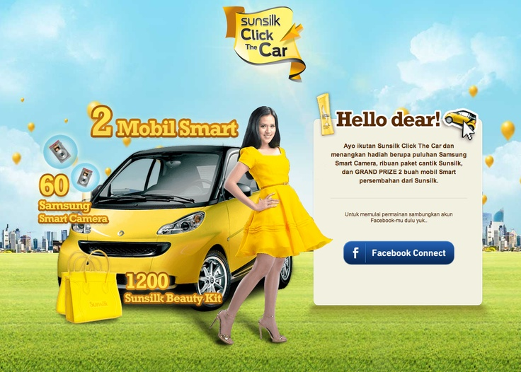 Sunsilk Click The Car (on website)»» http://www.sunsilk.co.id/clickthecar/