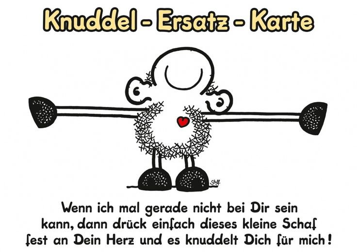 Knuddel-Ersatz-Karte | sheepworld | Echte Postkarten online versenden…