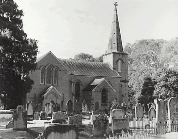 St Pauls, Cobbitty NSW View from graveyard on western side. Copyright: Camden Council Library Service.