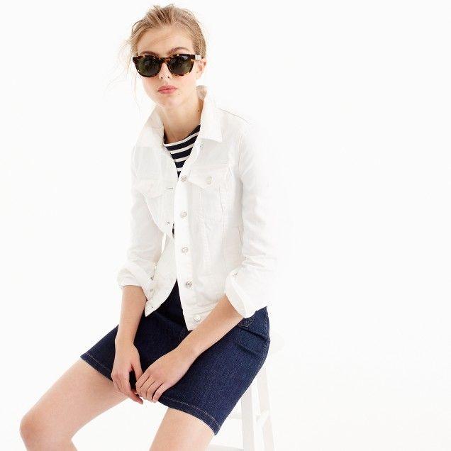 Denim jacket in white