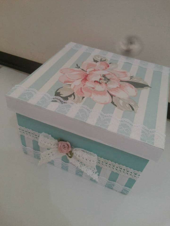 Just like my hand made boxes - decorated with wall paper.