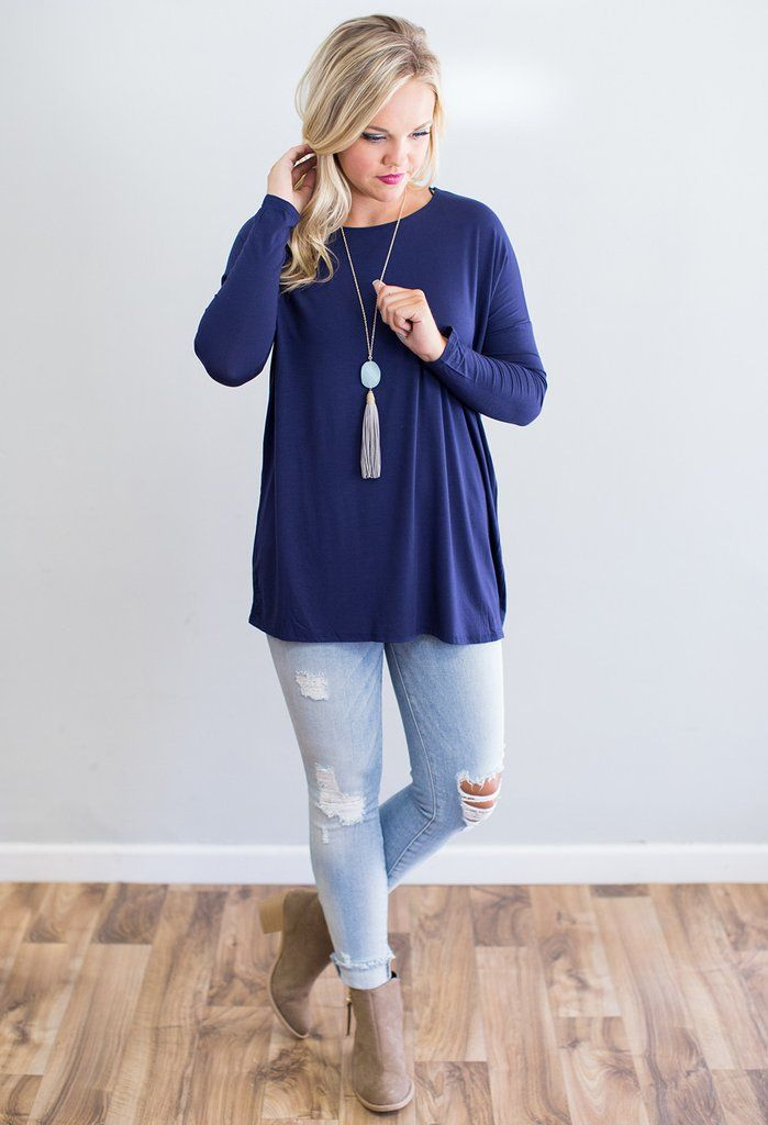 This loose fitting dolman top will be a go to this fall! It is such a flattering style and comes in four fall colors! This top is made of Bamboo and is so soft and washes amazing. 96% Bamboo, 4% Spand