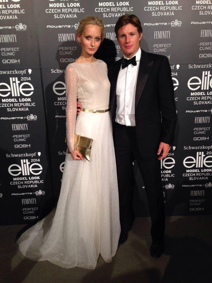 Beautiful Adéla Martynková, the winner of Elite Model Look 2013 wearing Leeda lace dress and accessories