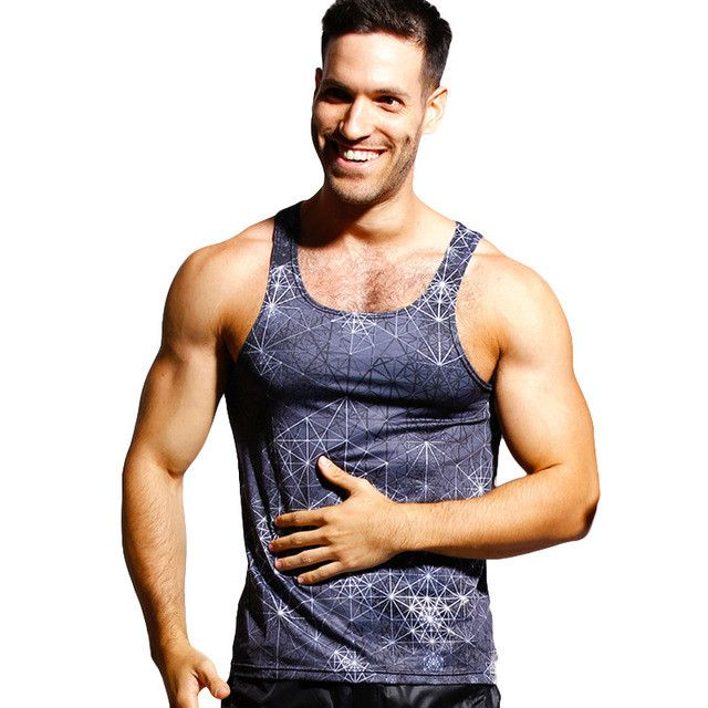 Men Tank Top Shirts Tees Sleeveless Undershirts Casual Tanks Vest Fitness Stringer Singlets 3D Printed