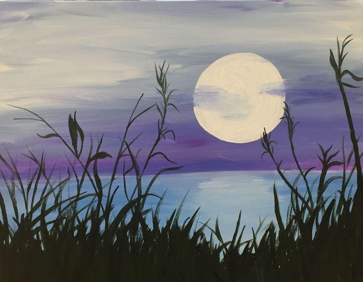 25+ best ideas about Moon Painting on Pinterest   Moon art ...