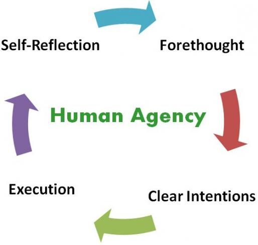 This article examines the nature and function of Human Agency in the Social Cognitive Theory. In analyzing the operation of human agency in this interactional causal structure, social cognitive theory accords a central role to cognitive, vicarious, self-reflective, and self-regulatory processes.