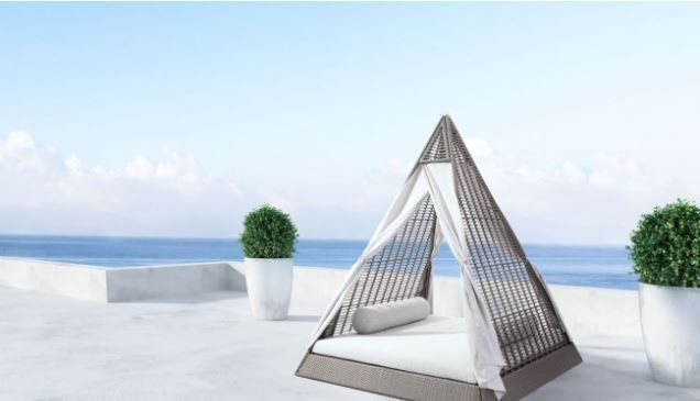 Presidents Day Sale Zuo Modern Albany Daybed Gray Outdoor Patio