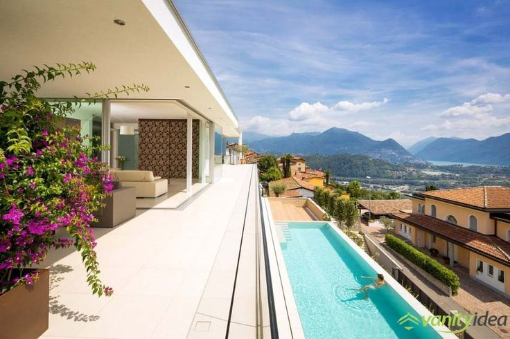 Impressive House Above Lake Lugano with a gorgeous view