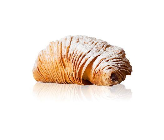 Sfogliatella - A baked flakey pastry with sweet ricotta & citrus